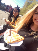 Could life get any better than crepes, the London Eye, and sunshine?